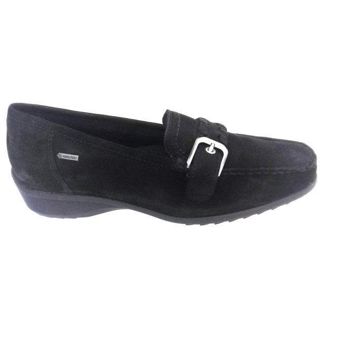 Ara 12-40134 Atlanta Black Gore-Tex Loafer