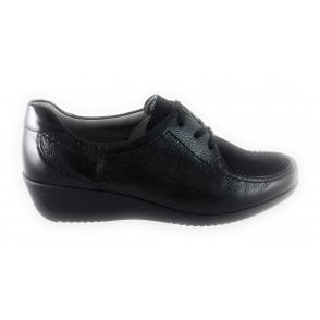 12-40636 Zurich Crinkle Patent Lace-Up Casual Shoe