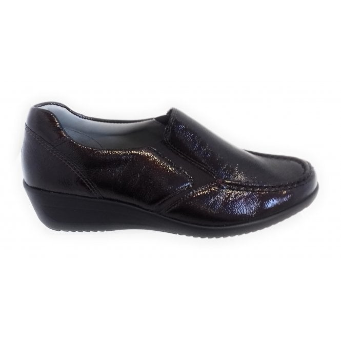 Ara 12-40638 Zurich Burgundy Patent Leather Wide Fit Slip-On Casual