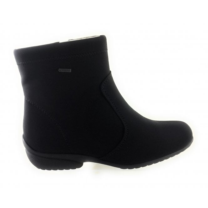 Ara 12-40911 Portofino Black Stretch Gore-Tex Ankle Boot