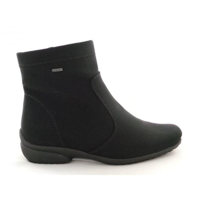 Ara 12-40911 Portofino Gore-Tex Black Stretch Ankle Boot
