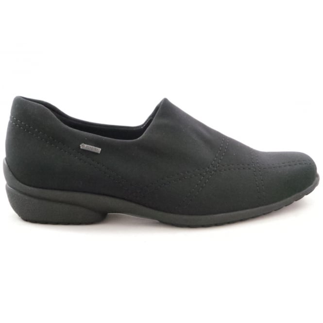 Ara 12-40954 Fortofino Black Gore-Tex Fabric Slip-On Shoe