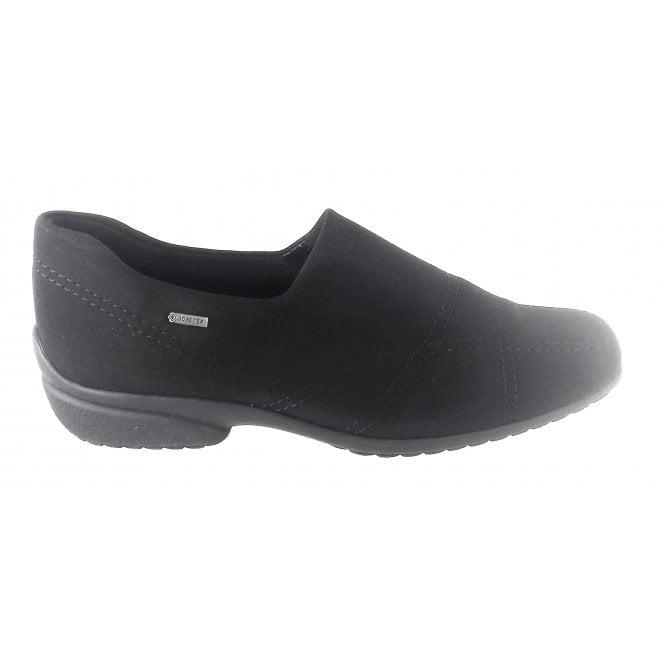Ara 12-40954 Portofino Black Gore-Tex Slip On Shoe