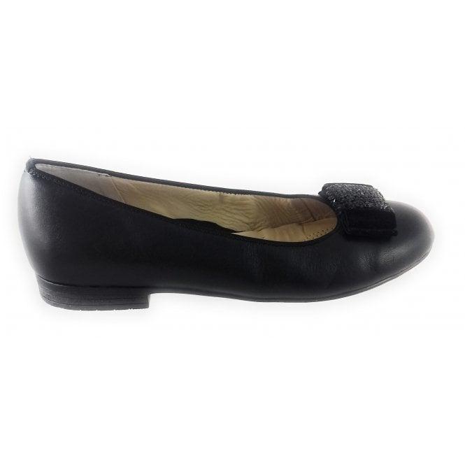 Ara 12-41303 Sardinia Black Nappa Leather Ballerina