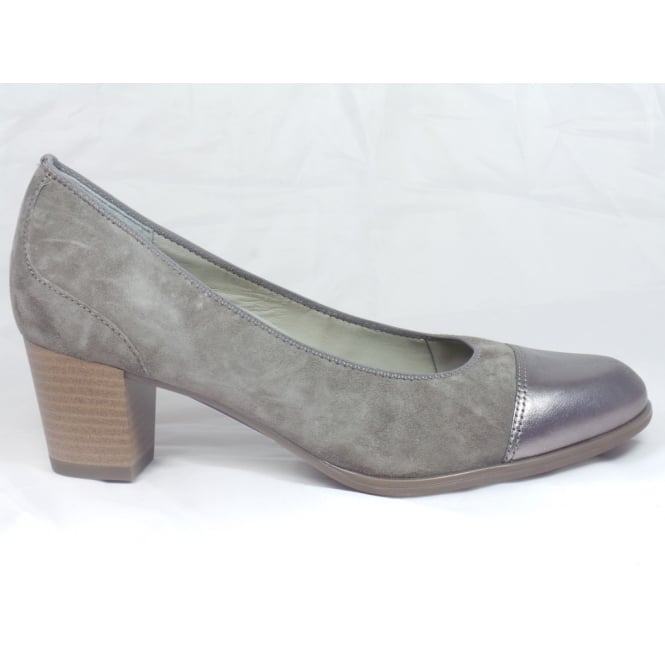 Ara 12-42522 Taupe Suede and Leather Court Shoe