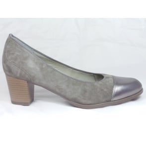 12-42522 Taupe Suede and Leather Court Shoe