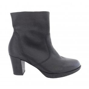 12-42550 Bergamo Black Leather Ankle Boot