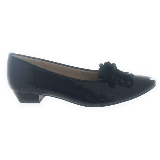 Ara 12-43067 Paris Black Patent Ballerina Court