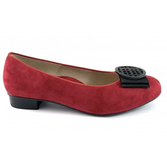 Ara 12-43720 Bari highsoft Red Suede Court Shoe