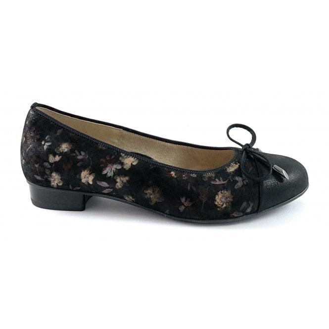 Ara 12-43721 Bari Highsoft Black Print Court Shoe