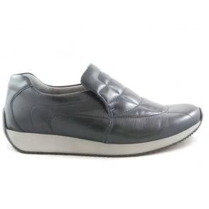 12-44029 Lissabon Navy Leather Slip-On Casual Shoe