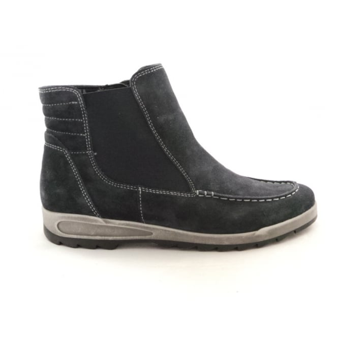 Ara 12-44632 Rom-Sport Navy Blue Suede Ankle Boot