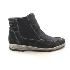 12-44632 Rom-Sport Navy Blue Suede Ankle Boot