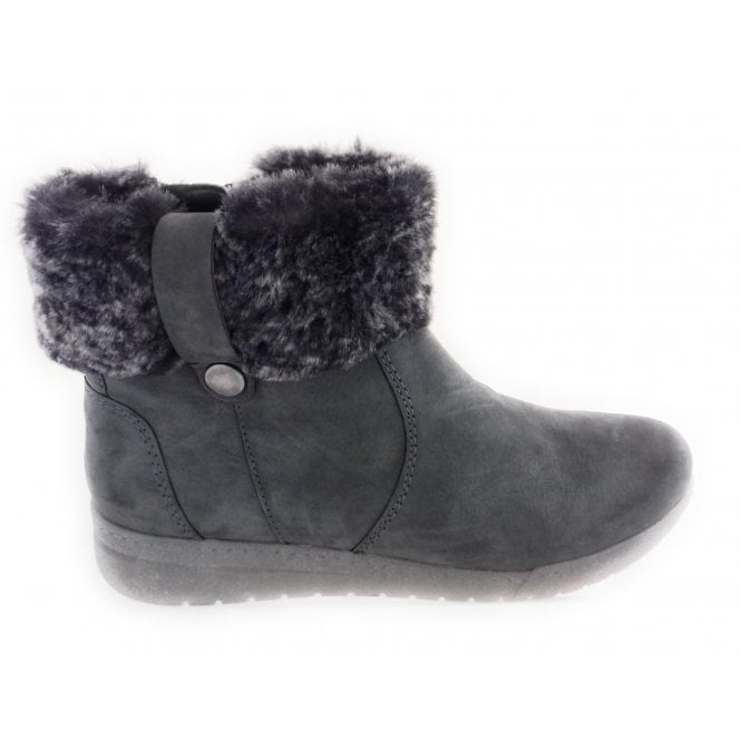 Ara 12-44933 Dakota Grey Nubuck Ankle Boot