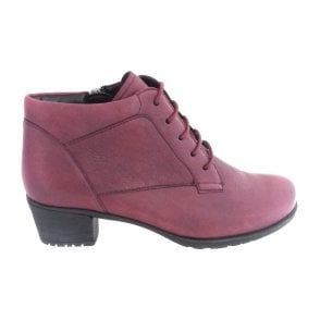 12-45434 Avignon Red Leather Ankle Boot