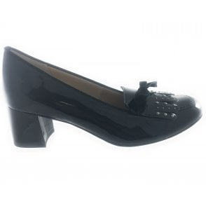 12-45519 Brighton Black Patent Court Shoe