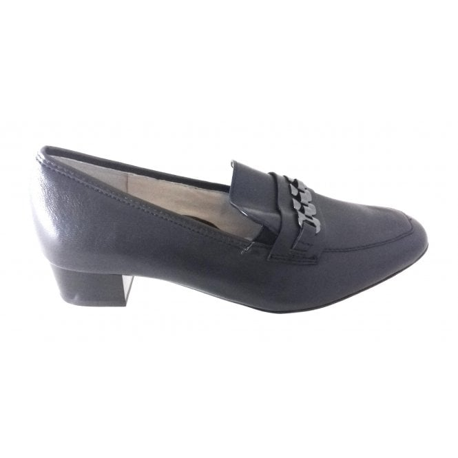 Ara 12-46813 Milano Navy Nappa Leather Court Shoe