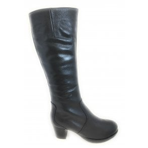 12-46903 Firenze Black Leather Knee High Boot