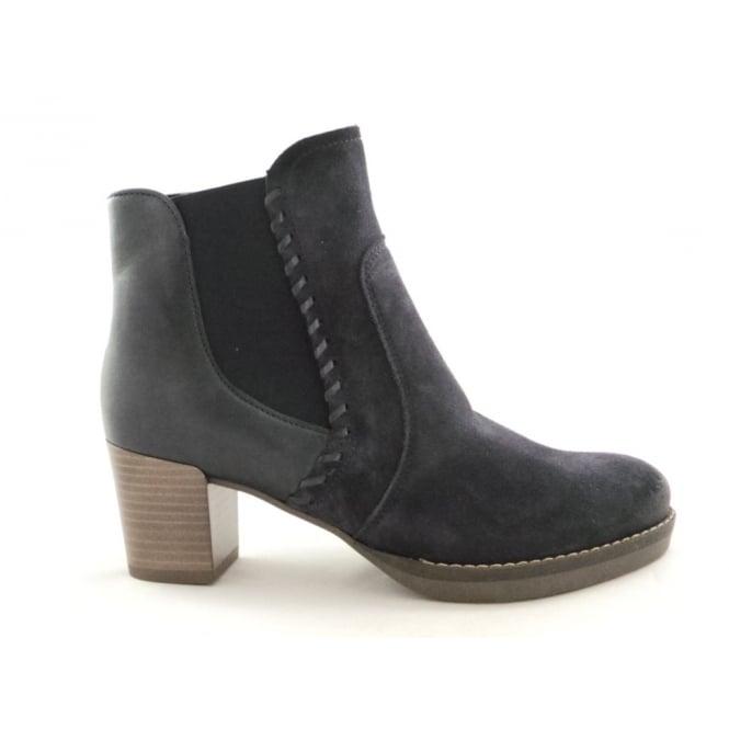 Ara 12-46957 Florenz Navy Blue Suede Ankle Boot