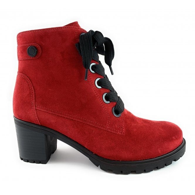 Ara 12-47316 Mantova Red Suede Lace-Up