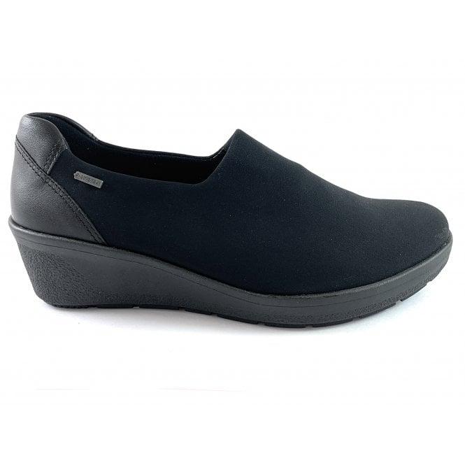Ara 12-47697 Nancy Black Gore-Tex Slip On Wedge Shoe