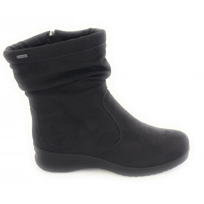 Ara 12-48513 Munchen Black Gore-Tex Zip Boot