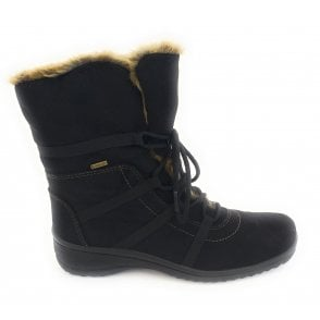 12-48523 Munchen Black Gore-Tex Lace-Up Boot