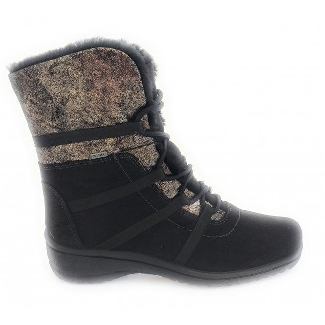Ara 12-48523 Munchen Black Gore-Tex Lace-Up Boot