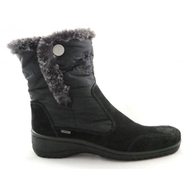 Ara 12-48552 Munchen Gore-Tex Black Microvelour Ankle Boot