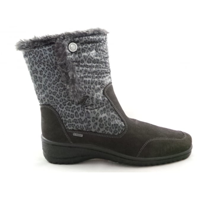 Ara 12-48552 Munchen Gore-Tex Grey Microvelour Ankle Boot