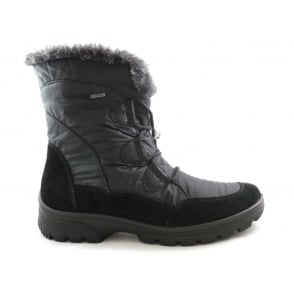 12-49338 saas-Fee Black Gore-Tex Ankle Boot