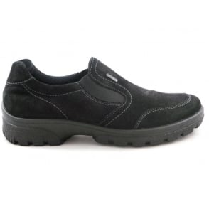 12-49346 Saas-Fee Black Gore-Tex Casual Shoe