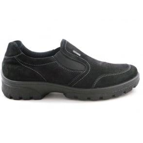 12-49346 Saas-Fee Black Gore-Tex Casual Shoe