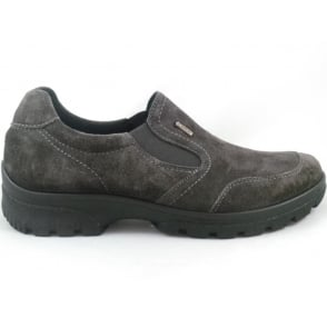 12-49346 Saas-Fee Gore-Tex Grey Nubuck slip-On Casual Shoe