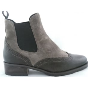 12-49504 Liverpool Brown Leather and Taupe Suede Chelsea Boot