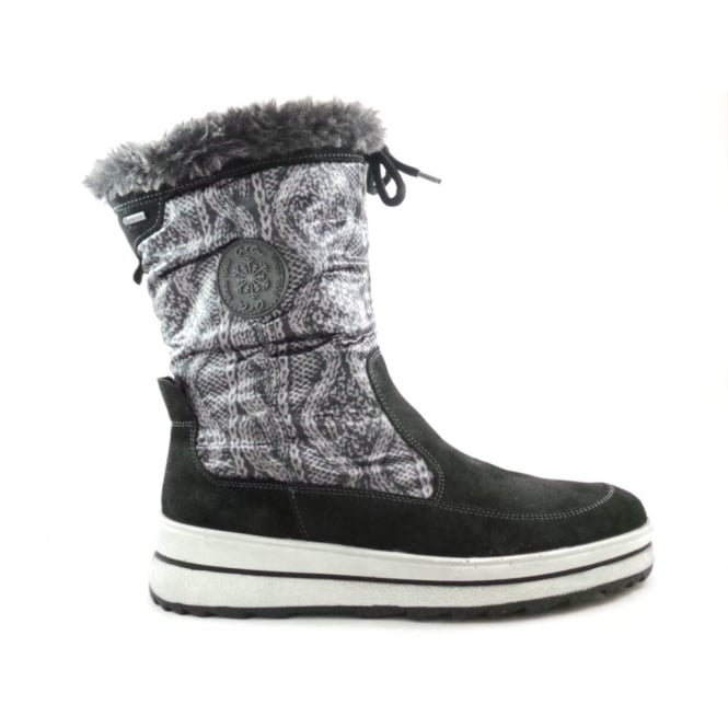 Ara 12-49714 Black and Grey Gore-Tex Boot