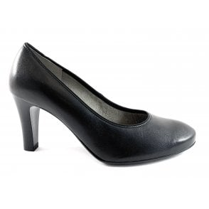 12-56017 Marseille Black Leather Court  Shoe