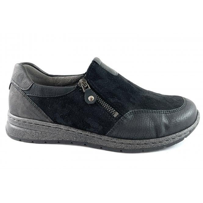 Ara 12-62442 Sapporo Black Slip On Casual Shoe