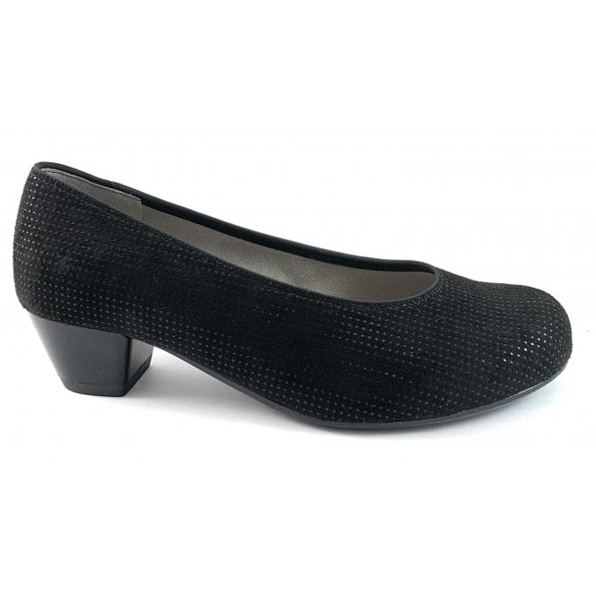 Ara 12-63619 Catania Black Print Court Shoe