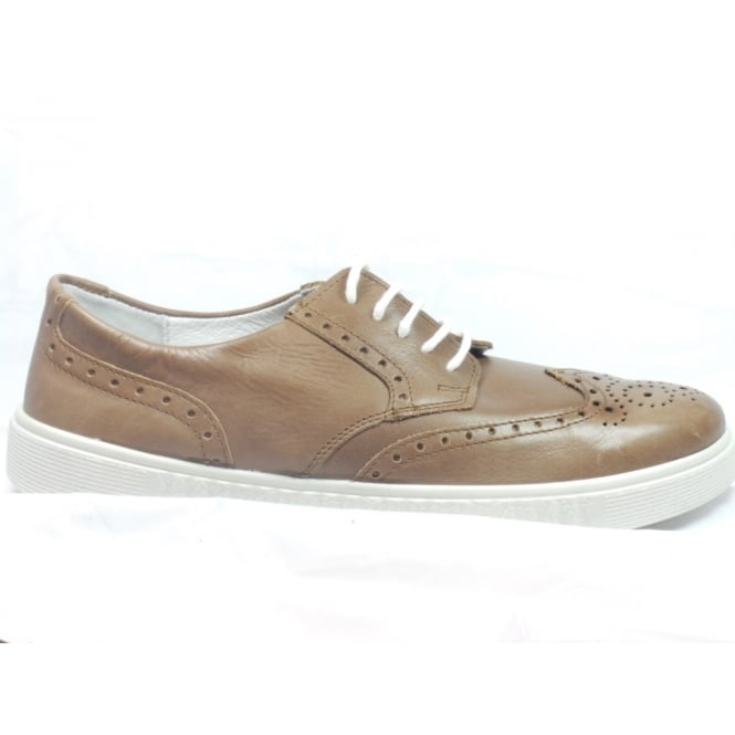 Rohde 1215 Vallo Brown Leather Lace-Up Casual Brogue