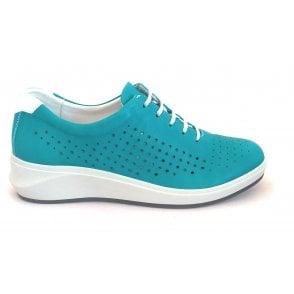 13000GT Fenix Jade Green Leather Casual Shoe