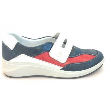 13008T Fenix Beige, Navy and Red Leather Casual Shoe