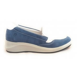 13011 Fenix Blue Leather Casual Loafer