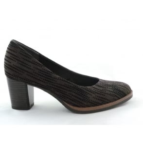 2/22402/39 Pacco Brown and Black Print Court Shoe