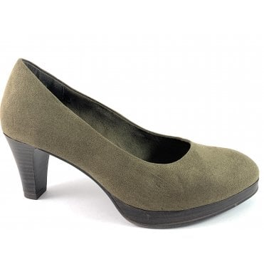 2-22413 Khaki Green Court Shoe