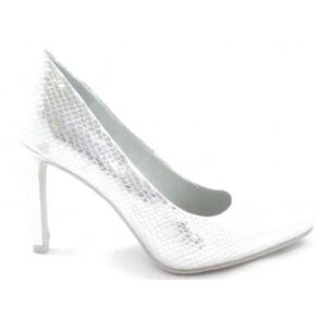 2/22415/28 Silver Metallic Print Court Shoe