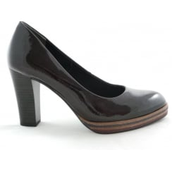 2/22417/29 Miano Dark Burgundy Patent Court Shoe