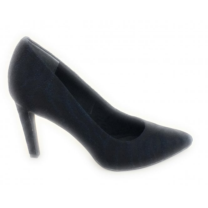 Marco Tozzi 2-22425 Navy Metallic Print Court Shoe