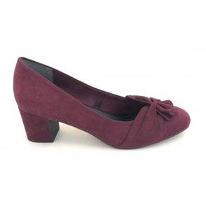 2-22430 Bordeaux Faux Suede Court Shoe