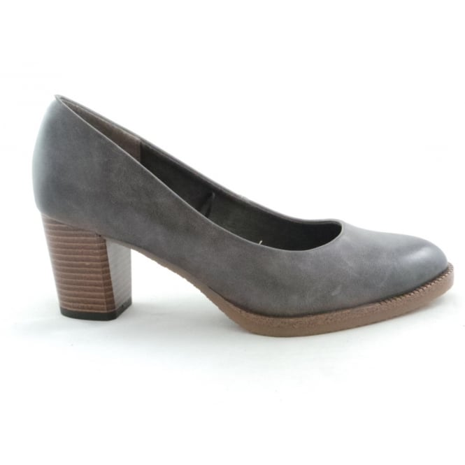 Marco Tozzi 2/22445/29 Peri Grey Faux Leather Court Shoe